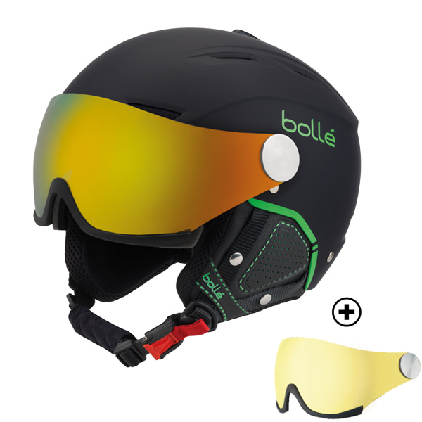 17/18[bolle]BACKLINE VISOR PREMIUM Soft Black & GreenFire Green &Lemon(렌즈 총 2개)