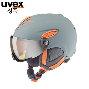 [17/18]uvex hlmt 300 visorgrey-orange mat